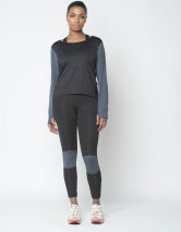 long sleeve top black grey 1